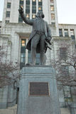Vancouver City Hall George Vancouver statue Royalty Free Stock Photography