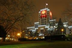 Vancouver City Hall Night Stock Image