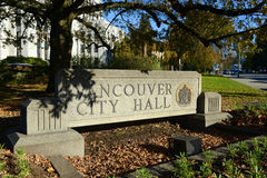 Vancouver City Hall, Vancouver, BC, Canada Stock Photography