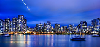 Vancouver city night Stock Photography