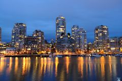 Vancouver city night scene Royalty Free Stock Photo