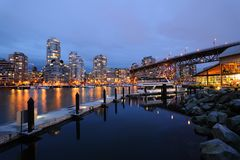 Vancouver city night scene Stock Photography