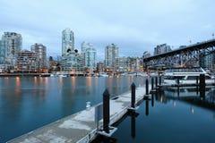 Vancouver city night scene Royalty Free Stock Photo