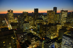 Vancouver City night view, BC, Canada Royalty Free Stock Photography