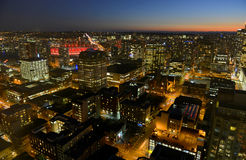 Vancouver City night view, BC, Canada Royalty Free Stock Photo