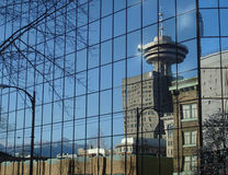 Vancouver City Reflection Royalty Free Stock Photos