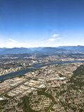 Vancouver city scape. Birds eye view of some sections of Vancouver Canada royalty free stock image