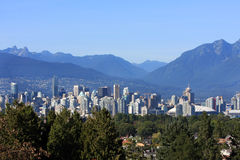 Vancouver city skyline Royalty Free Stock Images