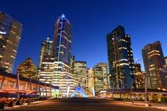 Vancouver City Skyline, BC, Canada Stock Photo