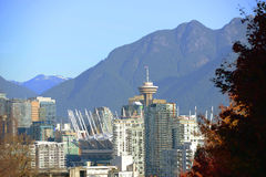 Vancouver City Skyline, BC, Canada Royalty Free Stock Photos