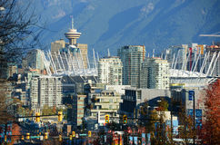 Vancouver City Skyline, BC, Canada Royalty Free Stock Photography