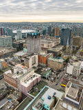 Vancouver city skyline from high viewpoint stock photography