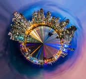 Vancouver city stereographic projection stock photography