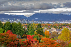 Vancouver city view in an autumn Royalty Free Stock Photo