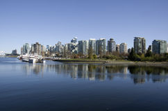 Vancouver city waterfront Royalty Free Stock Images