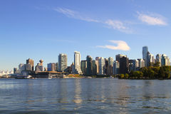 Vancouver  cityscape. Vancouver cityscape with  boats and towers in Canada BC Stock Image