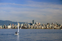 Vancouver Cityscape. View on downtown Vancouver from English Bay stock photo