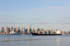 Vancouver Cityscape, Burrard Inlet Royalty Free Stock Images
