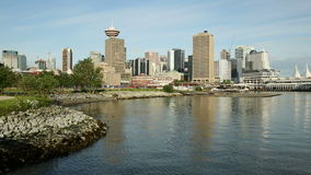 Vancouver Cityscape, Burrard Inlet Shoreline stock video