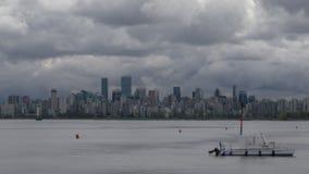 Vancouver Cityscape Cloud Timelapse pan stock footage