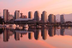 Vancouver Cityscape Morning, Dawn Stock Photography