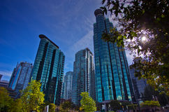 Vancouver Cityscape / Office Buildings Royalty Free Stock Photo
