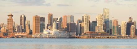 Vancouver Cityscape Panorama Stock Image