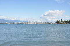 Vancouver Cityscape. Vancouver Skyline seen from Jericho Beach Stock Photos