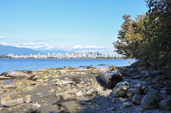 Vancouver Cityscape. Vancouver Skyline seen from Jericho Beach Stock Image