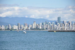 Vancouver Cityscape. Vancouver Skyline seen from Jericho Beach Royalty Free Stock Images