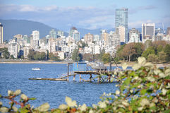 Vancouver Cityscape. Vancouver Skyline seen from Kitsilano Royalty Free Stock Photography
