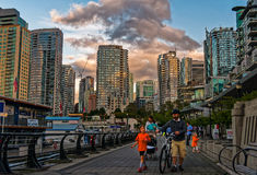 Vancouver Coal Harbor Walk stock photography