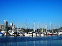 Vancouver Coal Harbor Waterfront Stock Photography