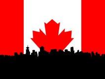Vancouver con la bandierina Immagine Stock