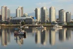 Vancouver Condominiums, False Creek Royalty Free Stock Photos