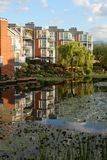 Vancouver Condominiums, Morning Reflection Stock Image