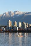 Vancouver Condos, English Bay and Mountains Stock Photos