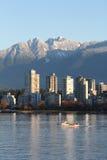 Vancouver Condos, English Bay and Mountains Stock Photos