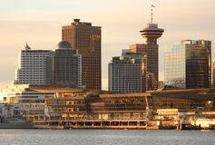 Vancouver Convention Center Morning Sun Royalty Free Stock Photo
