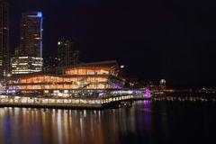 Vancouver Convention Center Night Stock Photography