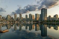 Vancouver, crique fausse Un début de la matinée Colombie-Britannique, Canada Photo stock