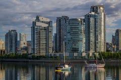 Vancouver, crique fausse Un début de la matinée Colombie-Britannique, Canada Image libre de droits