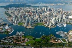 Vancouver dal cielo Immagini Stock
