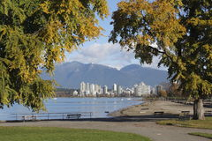 Vancouver dalla spiaggia dei kit Immagine Stock Libera da Diritti