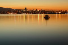 Vancouver Dawn Cityscape Stock Photography