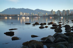 Vancouver Dawn, English Bay Royalty Free Stock Photography