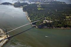 Vancouver - de Brug van de Poort van Leeuwen Stock Foto