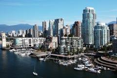 Vancouver de stad in Royalty-vrije Stock Foto's
