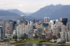 Vancouver de stad in Stock Foto