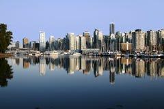 Vancouver de stad in Stock Afbeelding